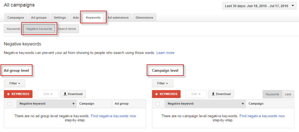 adwords Keyword Strategy