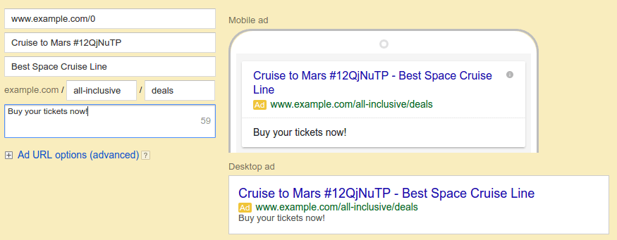 adwords Ad Text